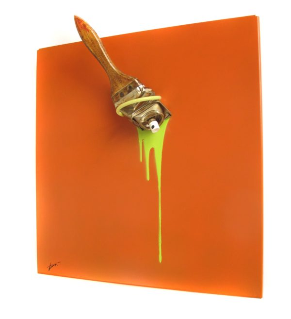 muRum - Tieri Trademark - Spraybrush Orange 35x33 Coté