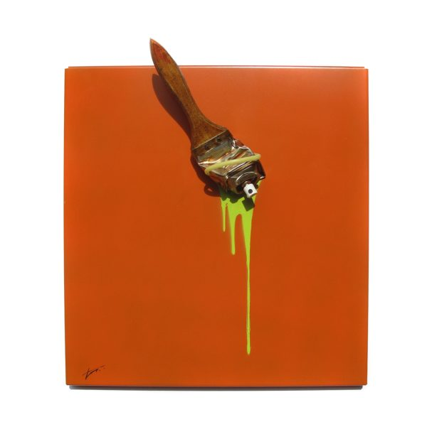 muRum - Tieri Trademark - Spraybrush Orange 35x33 face